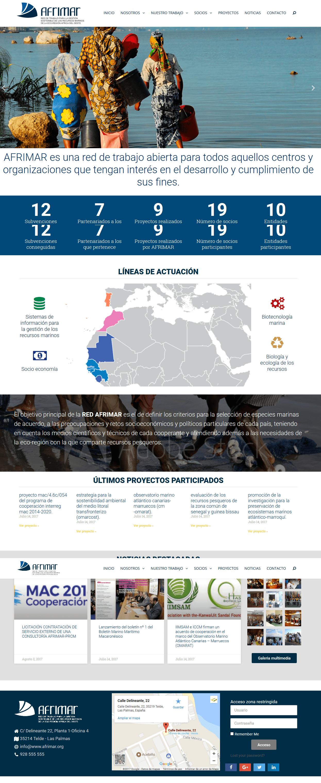 diseño portal web para asocacion de Canarias